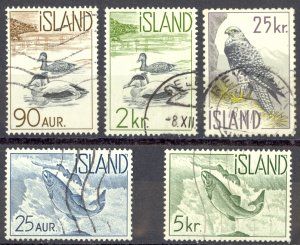 Iceland Sc# 319-323 Used 1959-1960 Water Life