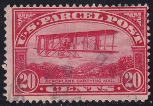 US STAMP BOB #Q9 20c Parcel Post Stamp 1913 Used stamp