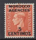 Great Britain-Morocco -1951 KGVI '5c on 1/2 Sc# 99-MH(1673)