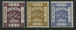 Palestine 1921 5, 9, and 10 piastres mint o.g.