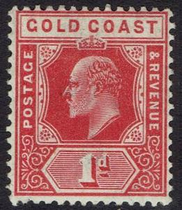 GOLD COAST 1907 KEVII 1D RED