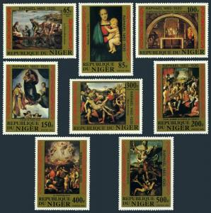 Niger 614-621,MNH.Michel 835-842. Paintings by Raphael,1983.