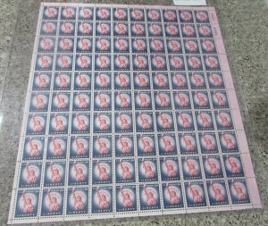$US Sc#1041b M/NH/VF full sheet of 100 stamps, Liberty