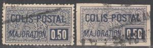 France #Q15, Q20 F-VF  Used CV $15.60 (K80)