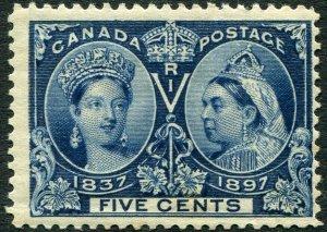 CANADA-1897 Jubilee 5c Slate-Blue Sg 127 MOUNTED MINT V35539