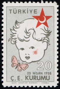 TURKEY Stamp RED CRESCENT COLLECTION 1958 Child Welfare  MH/OG