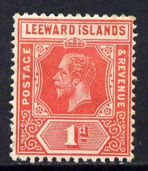 Leeward Islands 1921-32 KG5 Script CA 1d bright scarlet D...