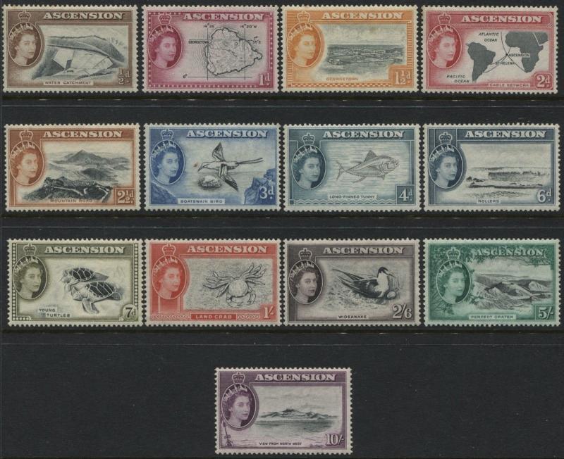 Ascension QEII 1956 set complete mint o.g.