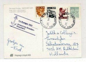 D181204 Brazil Postal Card MS Europa 1983 Rotterdam Netherlands