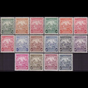 BARBADOS 1938 - Scott# 193-201A Colony Seal Set of 16 LH