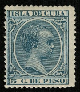King Alfonso XIII, MNH, Isla de Cuba, 5 C. de Peso, MC #101 (Т-6103)