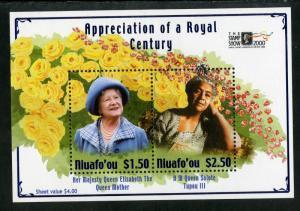 NIUAFO'OU 223 MNH S/S SCV $5.00 BIN $3.00 ROYALTY