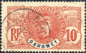 Dahomey 1906 Sc 21 General Louis Faidherbe Stamp Used