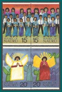 Nauru 1976 Christmas, MNH  #146-149,SG155-SG158