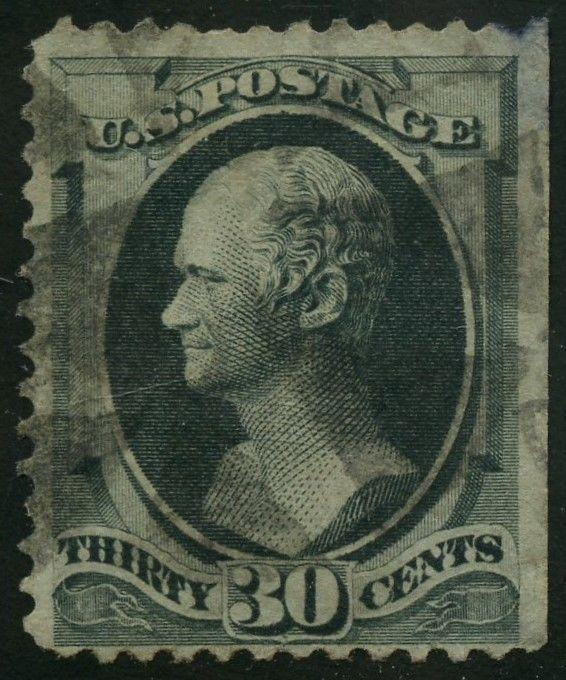 #154 VF USED WITH NATURAL STRAIGHT EDGE CV $300 AU454