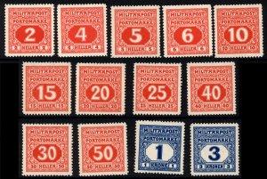 Bosnia 1918  Scott #J14-26 MLH