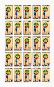Senegal 1990 Sc#897/900 Boy Scouts Sheetlet (25) Imperforated MNH VF