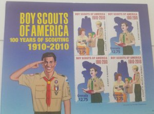 O) 2010 GRENADA, SCOUTS - SCOUTING - HELPFUL AND FRIENDLY - SCOUT IS REVERENT, M