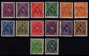 Germany 1921 Weimar Rep. Posthorn Definitive Part Set [Unused]