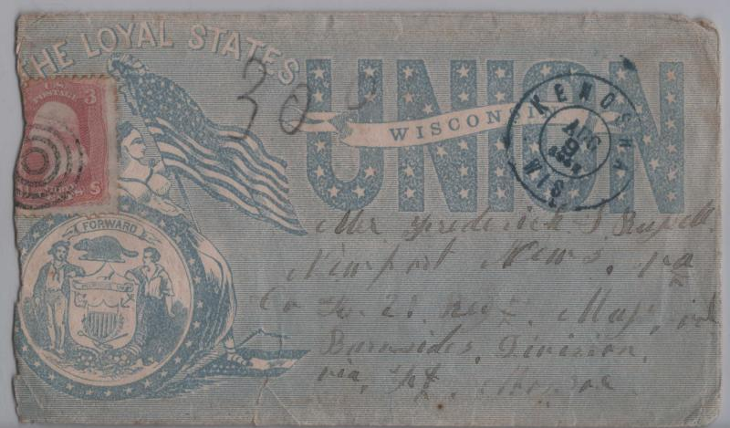 Regales The Loyal States-Wisconsin Civil War Patriotic Cover