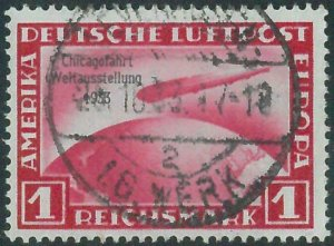 88160 - GERMANY Reich - STAMPS:  Michel # 496 USED -- ZEPPELIN Chicago