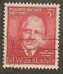New Zealand  Scott   318     Sir Truby King   Used
