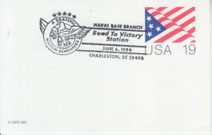 1994 50th Anniv D-Day Flag PC Charleston SC