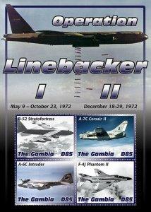 2020/11- GAMBIA - VIETNAM WAR OPERATION LINEBACKER   4V  complet set    MNH ** T