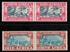 South Africa 1938 Voortrekker Commemorative set SG 80-81 mint