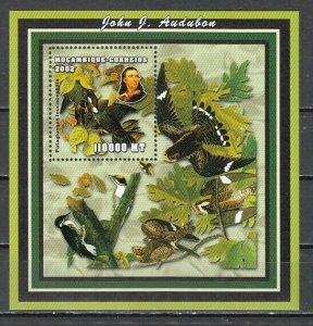 Mozambique MNH S/S 1643 John Audubon Birds 2002