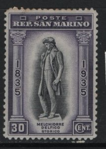 SAN MARINO  175   MINT HINGED REMNANTS, STATUE OF DELFICO 1935