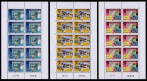 New Caledonia 50th Anniversary of OPT 3 sheetlets of 10v each SG#1446-1448