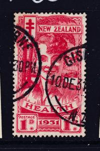New Zealand the 1931 Red Boy Health stamp  used