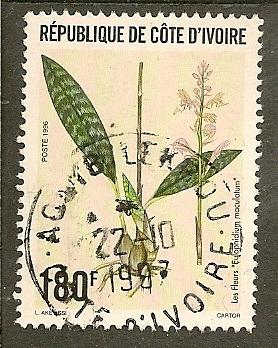 Ivory Coast       Scott 989     Orchid, Flora      Used