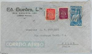 58286  -  PORTUGAL  - POSTAL HISTORY: COVER to ITALY - 1947