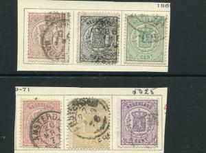 Netherlands #17-22  Used  cat $425