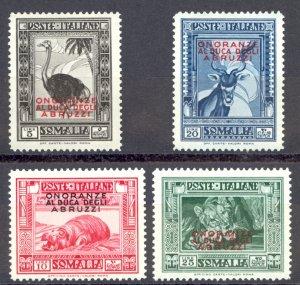 Somalia Sc# 160-163 MH 1934 overprint Definitives