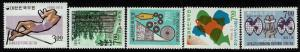 Korea Five 1965-1966,  Mint Never Hinged Stamps, 505 minor crease -  Lot 010117