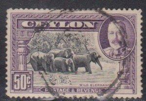 CEYLON Scott # 273 Used - KGV & Elephants