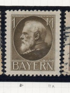 Bayern 1914-20 Early Issue Fine Mint Hinged 1M. NW-10858