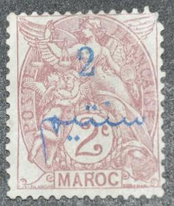 DYNAMITE Stamps: French Morocco Scott #27 – UNUSED