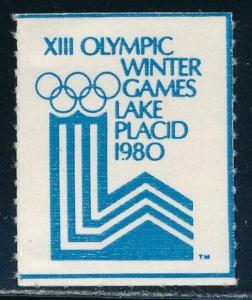 Label - Lake Placid Olympic Games MNH Poster Stamp Type B (1980)