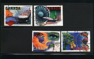 Canada #1595-98   -1    used VF 1996  PD