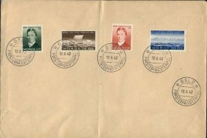 EARLY NORWAY FDC'S AND OTHER, TOTAL 3 COVERS. VF