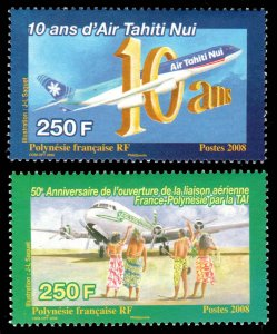 French Polynesia Scott 985-986 Mint never hinged.