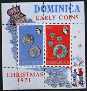 DOMINICA Scott 336a MNH** 1971 Christmas souvenir sheet