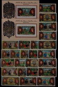 Central Africa 466-69,C251-53 MNH Diana 24v+2s/s