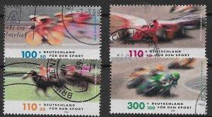 Germany 1999 Mi 2031 - 2034 gestempelt postally used
