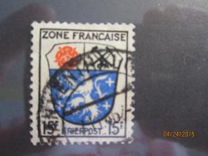 Germany #4N7 used French Zone