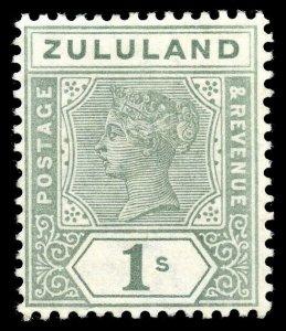 Zululand 1894 QV 1s green very fine mint. SG 25. Sc 20.